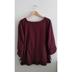 Talbots Brown Square Neck Top